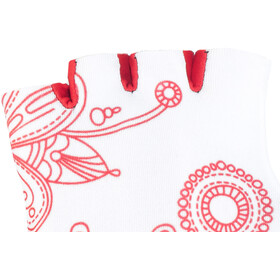 Red Cycling Products Race Bike Gloves Kinder white-red